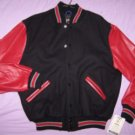 WOOL Varsity Jacket with LEATHER sleeves Medium MADE IN USA by Rennoc NWT Sale