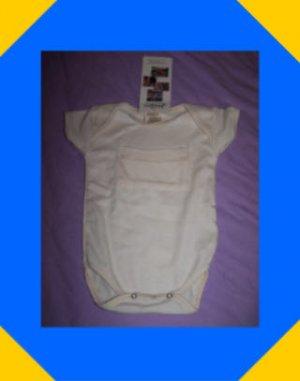 Organic Cotton Baby Bodysuit, Onesie. 0-6 Months