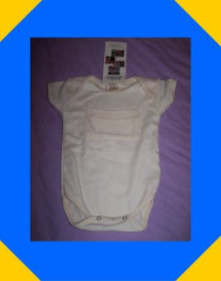 Organic Cotton Baby Bodysuit, Onesie. 6-12 Months by Maggie's Organics