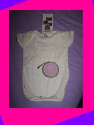 Organic cotton baby bodysuit onesie 6-12 months and Native Baby Shea Butter Baby soap. Nice gift!