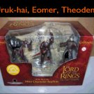 Lord of the Rings Mini Character Replicas Uruk-hai soldier, Eomer & Theoden LOTR