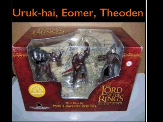 LOTR TTT mini Action figures Uruk-Hai Soldier, Eomer & King Theoden