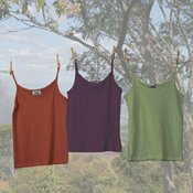 Organic Bliss Camisole MEDIUM Plum Maggie's Organics 100% Organic cotton