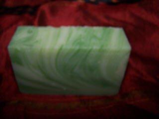 BALSAM SWIRL handmade soap NATURAL DEODORIZER