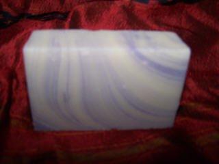 LAVENDER SWIRL  handmade ORGANIC soap ALL SKIN TYPES