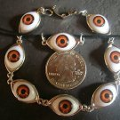 ONE OF A KIND BROWN EYEBALL BRACELET & PENDANT UNUSUAL