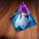 BEAUTIFUL LEAD CRYSTAL PYRAMID PRISM 50mm X 2 X 2 1/2
