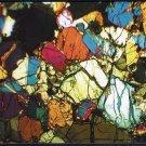 NWA 998 Martian Meteorite Postcard, Thin Section