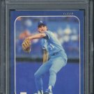 1986 Fleer #16  BRET SABERHAGEN Card PSA 9 Royals