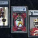Packers/Saints AARON BROOKS Graded Card Lot w/GU