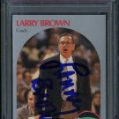 1990 Hoops #328 LARRY BROWN Signed Card PSA/DNA Spurs