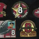 San Francisco 49ers STEVE YOUNG Pin Lot (5) Nice!
