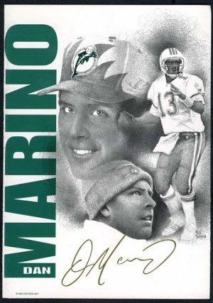 1996 Dotson DAN MARINO Greeting Card, Dolphins/HOF