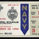 1959 Army vs Navy Ticket, Heisman Joe Bellino