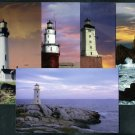 90s Era Real Photo LIGHTHOUSE POSTCARD SET/Lot (5)
