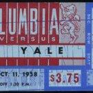1958 Columbia vs Yale Football Ticket Stub, Upset!