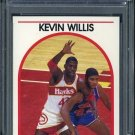1989 Hoops #98 KEVIN WILLIS Card PSA 10 Hawks