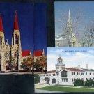 Vintage Church Postcard Lot (Mosque, Chapel) Religion