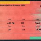 1984 Olympics Ticket Stub, Carl Lewis Wins 4th Gold