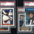 Detroit Tigers PSA Graded Topps Card Lot, Trammell+