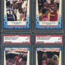 1989 Fleer Basketball Stickers PSA Graded Set, Jordan+