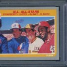 1985 Fleer #631 NL All-Stars PSA 10 Strawberry, Garvey+