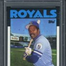 1986 Topps #415 HAL McRAE Card PSA 9 Royals