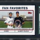 2004 Topps Fan Favorites (Ichiro/Albert Pujols) SGC 98