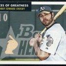 2007 Bowman Heritage BOBBY CROSBY GU Bat Card Athletics
