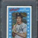 1982 Kellogg's #45 DWIGHT EVANS 3-D Card PSA 10 Red Sox