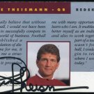 1991 Pro Line Port. JOE THEISMANN Certified Auto Card
