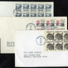 US Booklet Stamp Pane First Day Cover Lot Roosevelt FDC