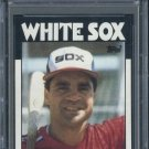 1986 Topps #14 JULIO CRUZ Card PSA 10 White Sox