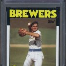 1986 Topps #267 PAUL MOLITOR Card PSA 9 Brewers HOF