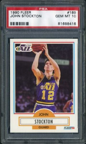 1990 Fleer #189 JOHN STOCKTON Card Graded PSA 10 Jazz