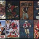 49ers STEVE YOUNG Card Lot, All Different, HOF BYU