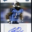 2007 Topps Performance #122 Chris Davis Auto RC Titans