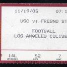 2005 11-19 USC vs Fresno State Ticket, Reggie Bush