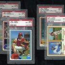 1981 Topps Baseball PSA Graded Lot; Cooper/Schmidt+
