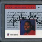 1992 Pro Line Portraits JON VAUGHN Auto Card PSA/DNA