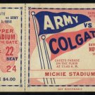 1958 Army vs Colgate Ticket, Heisman Pete Dawkins