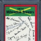 1974 Topps DEL CRANDALL Signed Brewers Card PSA/DNA