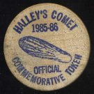 1985 Halley's Comet Club Wooden Nickel/Token