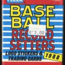 1988 Fleer Record Setters Set; Ripken, McGwire+