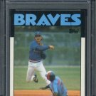 1986 Topps #409 PAUL RUNGE Card PSA 10 Braves