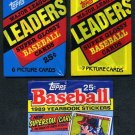 1980s Topps Oddball Baseball Card Pack Lot, Minis+