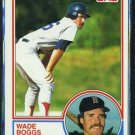 1983 Topps #498 WADE BOGGS RC Red Sox HOF NM+