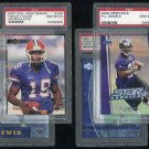 Baltimore Ravens PSA Graded Lot, Jermaine Lewis, RC's+