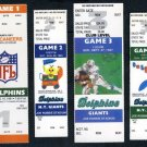 1987-1993 Miami Dolphins Unused Ticket Lot (4)
