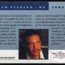 1991 Pro Line Port. DREW PEARSON Auto Card w/JSA COA